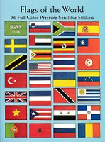 Flags of the World, 96 Full-Color Pressure-Sensitive Sticker