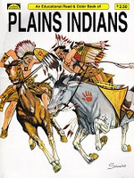 Educatonal Read & Color Book of Plains Indians