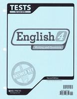 English 4 Writing and Grammar, 2d ed., Test Key