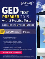 GED Test Premier 2015 with 2 Practice Tests