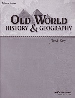 Old World History & Geography 5, Test Key