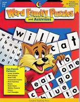 Word Family Puzzles & Activities, Grades 1-2