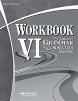 Grammar & Composition 12, Workbook VI 4th ed., Quiz-Test Key