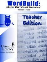 WordBuild: Elements Level 1, Teacher Edition