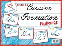 Cursive Formation Flashcards Aa-Zz and 0-10 Set