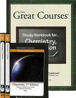 Great Courses Chemistry, 2d ed., 6 DVD, Workbook Set