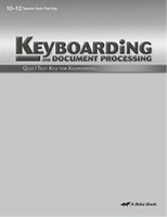 Keyboarding and Document Processing 10-12, Quiz-Test Key