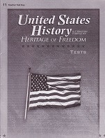 United States History 11: Heritage of Freedom, Test Key