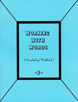 Working with Words 7 Vocabulary Workbook, student