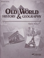 Old World History & Geography 5, Quiz Key