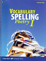 Vocabulary Spelling Poetry I (7), Teacher Key