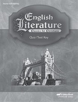 English Literature 12, Quiz-Test Key