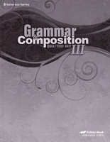 Grammar & Composition III (9), Quiz-Test Key