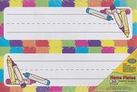 Crayon Tented Name Plates (blank pocket chart word plates)