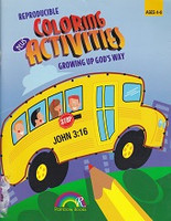 Growing Up God's Way Coloring plus Activities