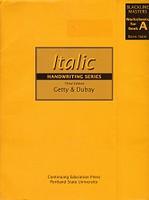 Italic Handwriting Series, 3d ed., Book A Blackline Masters