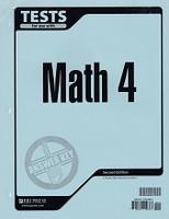 Math 4, 2d ed., Tests & Test Key Set