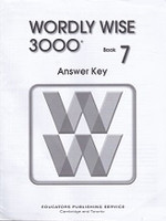 Wordly Wise 3000, Book 7; 2d ed., Answer Key