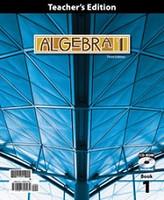 Algebra 1, 3d ed., Volume 1 of 2 Volume Teacher Edition Set