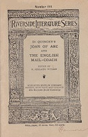de Quincey's Joan of Arc and The English Mail-Coach