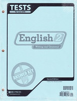 English 2 Writing and Grammar, 2d ed., Test Key