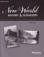 New World History & Geography 6, Test Key