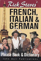 Rick Steves' French, Italian, German Phrase Book, Dictionary
