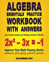 Algebra Essentials Practice Workbook with Answers