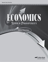 Economics 12, Work & Prosperity, Quiz-Test Key