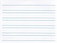 "Practice Tablet, 1"" with blue broken mid-line; 5 lines"