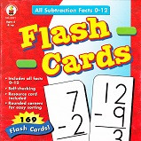 All Subtraction Facts 0-12 Flash Cards