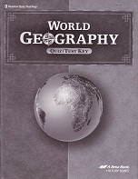 World Geography 9, Quiz-Test Key