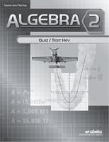 Algebra 2 (10), Quiz/Test Key