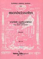 Mendelssohn Violin Concerto in e minor, Violin and Piano