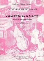 Telemann Concerto in G Major, Viola and Piano
