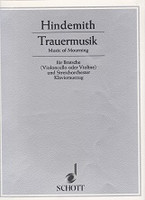 Hindemith Trauermusik (Music of Mourning) for Bratsche