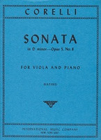 Corelli Sonata in D minor--Opus 5, No. 8; Viola and Piano