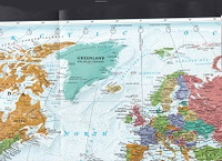 National Geographic The World Folded Physical Wall Map