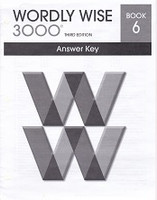 Wordly Wise 3000, Book 6 Answer Key, 3d ed.