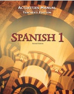 Spanish 1, 2d ed., Activities Manual, Teacher Edition