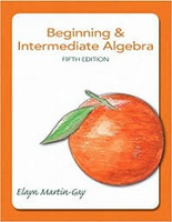 Beginning & Intermediate Algebra, 5th edition