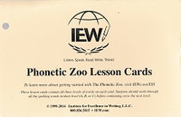 IEW Phonetic Zoo Lesson Cards