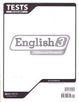 English 3 Writing and Grammar, 2d ed., Tests & Test Key Set