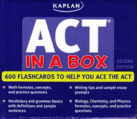 Kaplan ACT In a Box, 600 Flashcards, 2d ed.