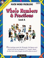 Whole Numbers & Fractions, Level A, Math Word Problems