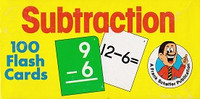 Set of 100 Subtraction Flash Cards