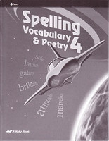 Spelling Vocabulary & Poetry 4, Tests & Test Key Set