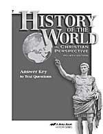History of the World 7, Text Answer key