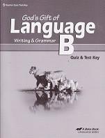 God's Gift of Language B (5), Quiz-Test Key