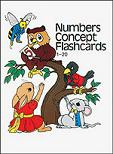 Numbers Concept Flashcards K, 1-20